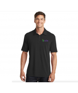 Biote Polo - Large Men's (Black)