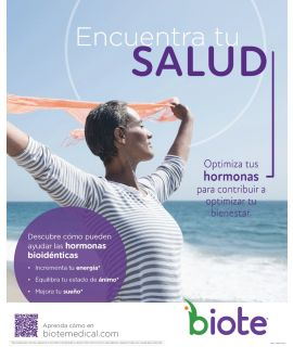 """Acrylic Display INSERT - Salud - Spanish (8.5"""" x 11"""")"""